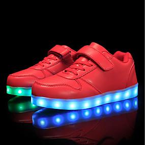 preiswerte LED Schuhe-Jungen Komfort / Leuchtende LED-Schuhe maßgeschneiderte Werkstoffe / Kunstleder Sneakers Kleine Kinder (4-7 Jahre) / Große Kinder (ab 7 Jahren) Schnürsenkel / Klettverschluss / LED Rot / Blau / Rosa