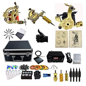 cheap Professional Tattoo Kits-BaseKey Professional Tattoo Kit Tattoo Machine - 3 pcs Tattoo Machines, Professional 360 W 3 alloy machine liner & shader / Case Included