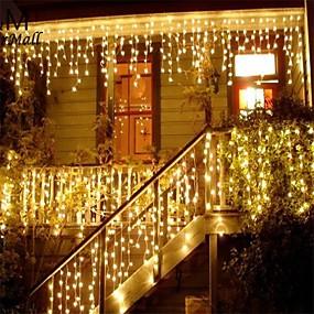 povoljno Unikatna rasvjeta-božićni vijenac vodio zavjesa icicle niz svjetlo 220v 1.5m 48leds zatvoreni pad vodio stranka vrt pozornici vanjski ukrasno svjetlo