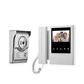 cheap Video Door Phone Systems-Wired 4.3 inch Hands-free 480*272 Pixel One to One video Doorphone Door Bell 700 TVL Camera Infrared light Night Vision Wall Mounting