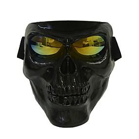 billige Ansiktsmasker til motorsykkel-plast halloween beskyttende skallen skjelett maske utendørs fullt ansikt