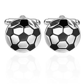 preiswerte Gifts for Soccer Fans-Manschettenknöpfe American Football Beiläufig / sportlich Brosche Schmuck Schwarz Für Karnival