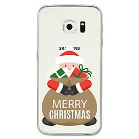 preiswerte Weihnachtsfälle-Hülle Für Samsung Galaxy S8 Plus / S8 / S7 edge Muster Rückseite Weihnachten Weich TPU