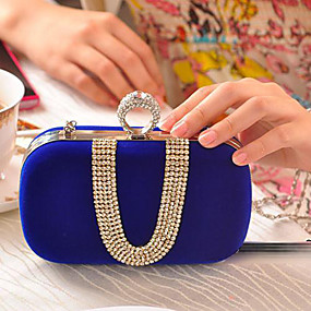 preiswerte Taschen-Damen Kristall Verzierung Polyester Abendtasche Strass Kristall Abendtaschen Fuchsia / Rot / Blau