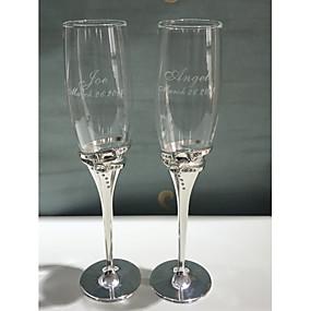 preiswerte Customized Prints and Gifts-Glas Zinklegierung Toasten Flöten Geschenkbox Hochzeit Ganzjährig