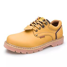 levne Větší obuv-Pánské PU Jaro / Podzim Pohodlné Oxfordské Nositelný Žlutá / Černá / Tmavě hnědá