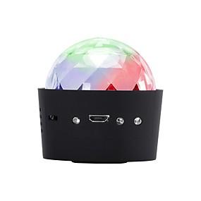 저렴한 무대 조명-U'King LED무대 라이트 음향 작동 3 W 용 파티 / 웨딩 / 댄스 휴대용 / 전문가용
