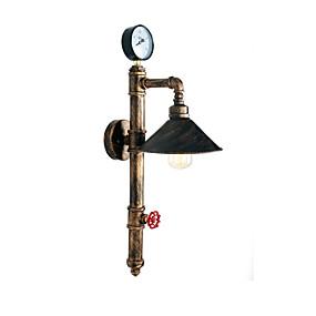 povoljno Lámpatestek-vintage industrijske cijevi zidne svjetiljke metalni nijansa restoran kafe bar zidni ogrtači 1-light oslikana završiti