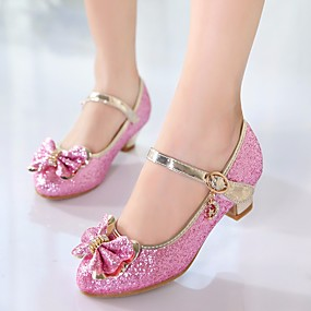 preiswerte Schuhe für Kinder-Mädchen Tiny Heels für Teens PU High Heels Kleine Kinder (4-7 Jahre) / Große Kinder (ab 7 Jahren) Schleife Weiß / Rosa Frühling / TR / EU37