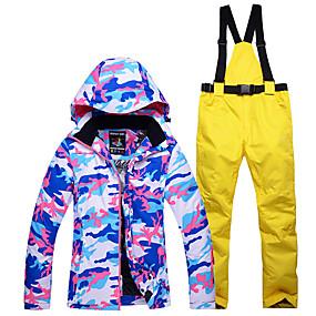 preiswerte Leisure-ARCTIC QUEEN Damen Skijacken & Hosen warm halten Wasserdicht Windundurchlässig Skifahren Winter Sport Polyester Sportkleidung Skikleidung / camuflaje