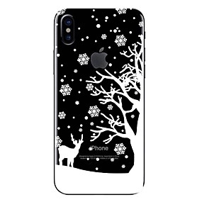 preiswerte Weihnachtsfälle-Hülle Für Apple iPhone X / iPhone 8 Plus / iPhone 8 Transparent / Muster Rückseite Weihnachten Weich TPU