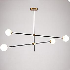 cheap Chandeliers-4-Light 100 cm Pendant Light Metal Glass Sputnik Modern Contemporary 110-120V / 220-240V