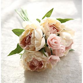 preiswerte Wandsticker-Künstliche Blumen 8.0 Ast Moderner Stil Pfingstrosen Tisch-Blumen