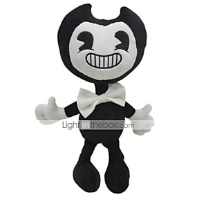 cheap Kids' Toys-30cm Ghost Bendy and The Ink Machine Classic Theme Stuffed Animal Plush Toy Cute For Children Animals Girls' Toy Gift 1 pcs
