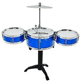 cheap Music, Art & Drawing Toys-Drum Set Toy Musical Instrument Round Drum Set Jazz Drum Girls' Boys'