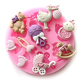 cheap Cake Molds-Baby Party Silicone Cake Mold Infant Chocolate Soap Craft Mould DIY Bake Tools