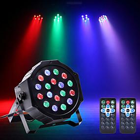 저렴한 무대 조명-U'King LED무대 라이트 / LED Par 라이트 DMX 512 / 마스터 슬레이브 / 음향 작동 용 파티 / 무대 / 웨딩 전문가용