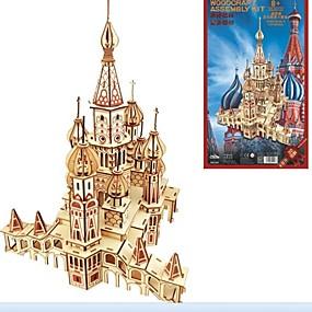 preiswerte Modelle & Modell Kits-3D - Puzzle Holzpuzzle Modellbausätze Mode Haus Neues Design Heimwerken 1 pcs Klassisch Modisch Russisch Kinder Jungen Mädchen Spielzeuge Geschenk