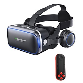cheap Gaming Tribe-VR Headset Shinecon 6.0 Pro Stereo Virtual Reality Smartphone 3D Glasses BOX VR Headset with Controller for Android