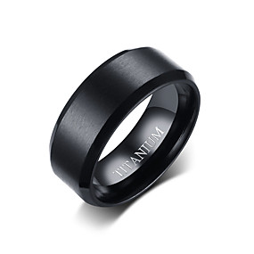 cheap Party Evening-Men's Band Ring Black Titanium Steel Tungsten Steel Circle Simple Punk Fashion Daily Formal Jewelry Classic Style Basic Wedding