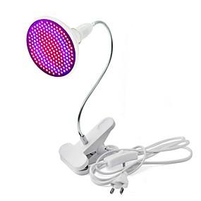 preiswerte LED Pflanzenlampe-1pc 20 W Wachsende Lampe 1800 lm E26 / E27 200 LED-Perlen SMD 2835 Dekorativ Flexibler Lampenhalter Clip Rot Blau 85-265 V / RoHs / FCC