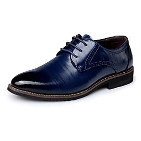 levne Větší obuv-Pánské Komfortní boty Kůže Jaro / Podzim Business Oxfordské Černá / Světle hnědá / Tmavěhnědá / Party / Party / EU40