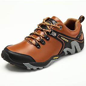 voordelige Wijdere maten schoenen-Heren Comfort schoenen Imitatieleer Winter Sportschoenen Trektochten Zwart / Lichtbruin / Donker Bruin / Sportief / Fashion Boots