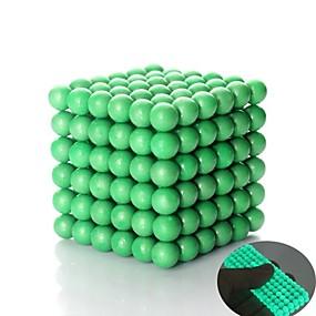 preiswerte Toys & Games carnival sale-125-1000 pcs 5mm Magnetspielsachen Magnetische Bälle Bausteine Superstarke Magnete aus seltenem Erdmetall Neodym - Magnet Zum Stress-Abbau Klassisch Kugel Fluoreszierend Im Dunkeln leuchtend Stress