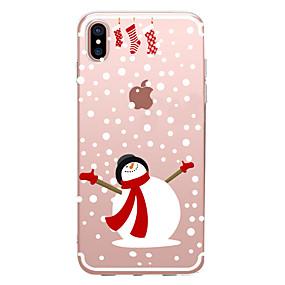preiswerte Weihnachtsfälle-Hülle Für Apple iPhone XS / iPhone XR / iPhone XS Max Transparent / Muster Rückseite Weihnachten Weich TPU