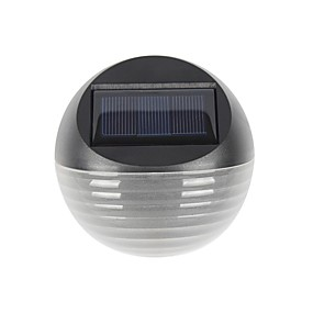 preiswerte LED Solarleuchten-1pc warmes / kaltes weißes Farbe 6led solar Licht solar powered Zaun Lampe Halbkreis Garten Rasen Wandleuchte