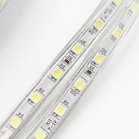 povoljno Svjetlosne trake i žice-30m 1800 LED diode 5050 SMD Toplo bijelo Bijela Crveno Vodootporno Cuttable Tiktok LED svjetla 220 V