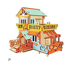 preiswerte Modelle & Modell Kits-3D - Puzzle Holzpuzzle Modellbausätze Mode Haus Neues Design Heimwerken 1 pcs Klassisch Modisch Kinder Jungen Mädchen Spielzeuge Geschenk