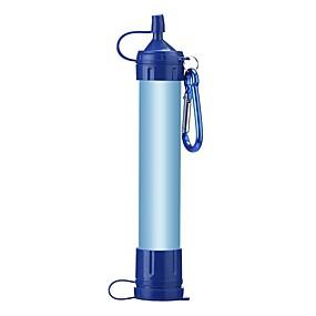 preiswerte Trinken & Filtern-Tragbarer Wasserfilter &-reiniger Tragbarer Wasserfilter Kunststoff Kohlefaser Silica Gel Outdoor für Camping & Wandern Angeln Wandern 1 pcs Blau