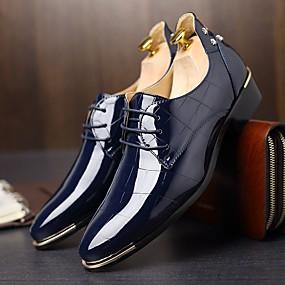 levne Větší obuv-Pánské Oxford Jaro / Podzim Pohodlné / Bristké Oxfordské Černá / Námořnická modř / Červená / Party