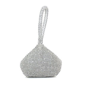 cheap Party Collections-Women's Rhinestone / Crystals Silk Evening Bag Black / Gold / Silver