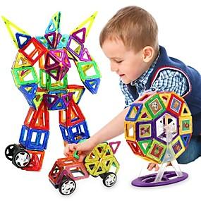 preiswerte Jogue os Seus Games Favoritos-Magnetische Bauklötze Magnetische Fliesen Bausteine 218 pcs Menschen Fahrzeuge Transformierbar Jungen Mädchen Spielzeuge Geschenk