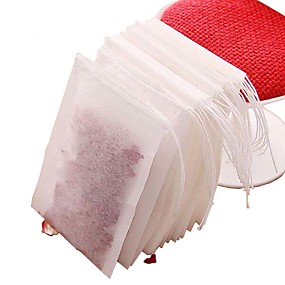 cheap Coffee and Tea-100pcs Non-woven Fabric Tea Bags with String Strainer Tea Infuser Herbal Filter