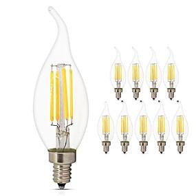 preiswerte Mehr Bestellen & Mehr Sparen-10 Stück 4 W LED Glühlampen 360 lm E14 C35L 4 LED-Perlen COB LED-Lampe Dekorativ Edison-Birne Warmes Weiß Kühles Weiß 220-240 V / RoHs