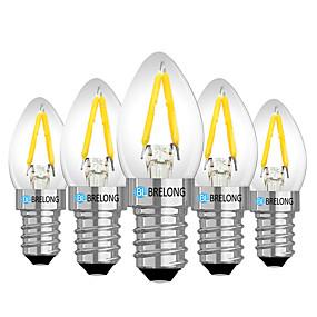 preiswerte Mehr Bestellen & Mehr Sparen-Brelong 5 pc e14 2 watt dimmbare led-filament glühbirne ac110v / ac 220 v warmweiß