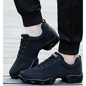 preiswerte Shoes & Bags Just For Your Beautiful-Herrn Tanzschuhe Gestrickt Tanz-Turnschuh Sneaker Niedriger Heel Maßfertigung Weiß / Schwarz / Professionell / EU43
