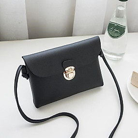 preiswerte Taschen-Damen Tasche PU Umhängetasche Schwarz / Weiß / Rosa