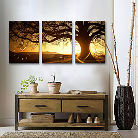 """preiswerte Wanduhren auf Leinwand-Moderner Stil Holz Quadratisch Drinnen 16"""" x 24"""" (40cm x 60cm) 11 """"x 16"""" (28 cm x 40 cm) 14 """"x 20"""" (35 cm x 50 cm)"""