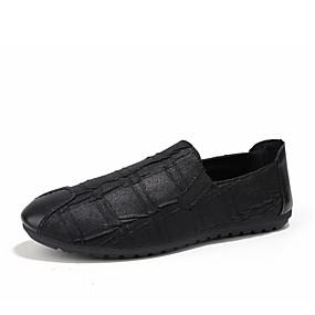 levne Pánská obuv-Pánské Komfortní boty Umělá kůže / PU Jaro Nokasíny Černá / Světle hnědá / Venkovní