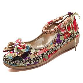 voordelige Damesschoenen met platte hak-Dames Platte schoenen Platte hak Rubber Comfortabel Lente / Herfst Zwart / Rood / EU39