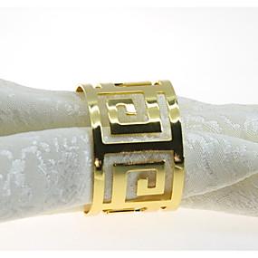 preiswerte Servietten-Ring-Europäischer Stil Metal Kreisförmig Servietten Ring Tischdekorationen 12 pcs