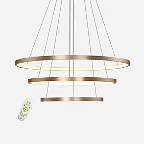 povoljno Lámpatestek-moderna elektroda bez dometa vodio privjesak svjetla max 100w jednostavnost tri prstena uredski dnevni boravak restoran luster