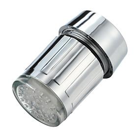 preiswerte Renovierung-leuchtenden glow-up-led-wasserhahn wasserhahn duschkopf wasser düse kopf licht bad küchenarmaturen