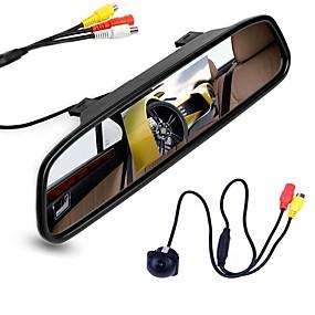 billige Bilryggekamera-ziqiao 4,3 tommers digital tft lcd speil skjerm og bil bakfra kamera farge nattesyn