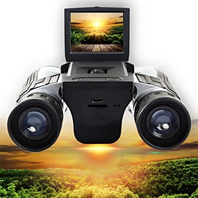 preiswerte Camping&Wandern-12 X 32 mm Fernglas Hochauflösend LCD Anzeige Video Camping & Wandern Jagd Klettern Silikon Gummi Gummi Silikon