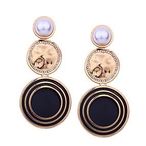 preiswerte Damenschmuck-Damen Tropfen-Ohrringe Lang damas überdimensional Perlen Ohrringe Schmuck Schwarz / Weiß / Orange Für Alltag Verabredung